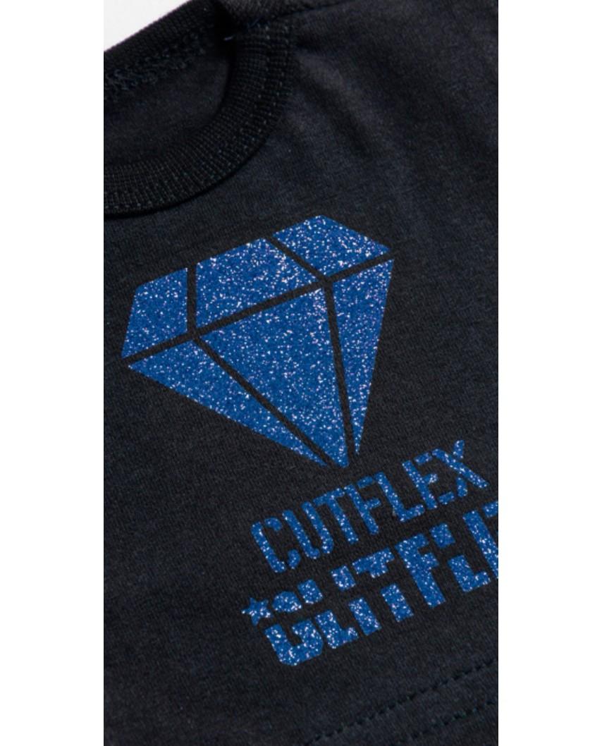 Vinilo Glitter 3D Azul