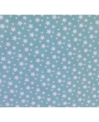 Tela Estrellitas Azul Cielo  35x50 cm