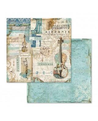 "Bloc papel de scrap 10 hojas 30.5x30.5 (12""x12"") impresas por las 2 caras Voyages Fantastiques"