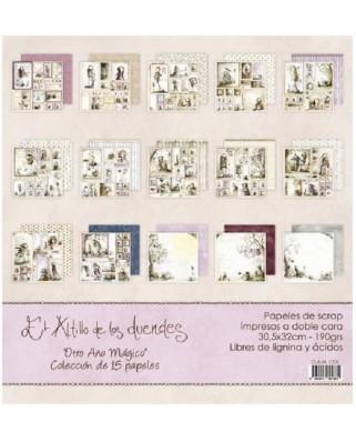 Colección de 15 PAPELES  Otro Año Mágico
