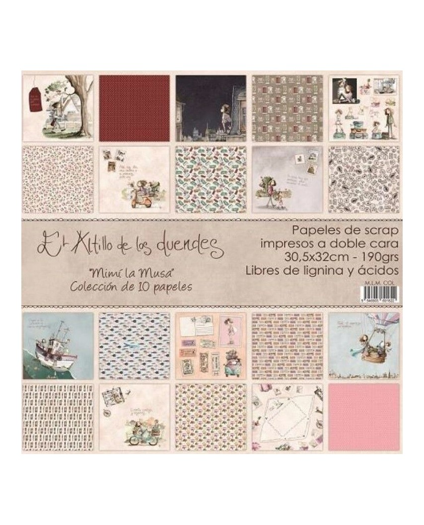 Colección de 10 papeles  MIMI LA MUSA