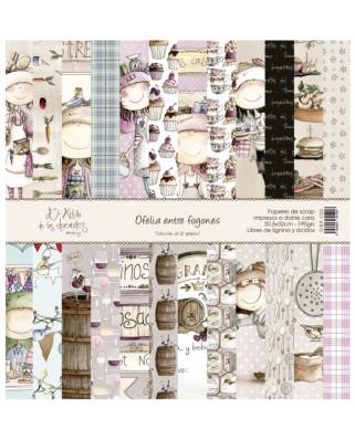 Colección de 12 papeles   OFELIA ENTRE FOGONES