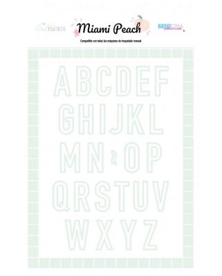 Troquel abecedario - Miami Peach