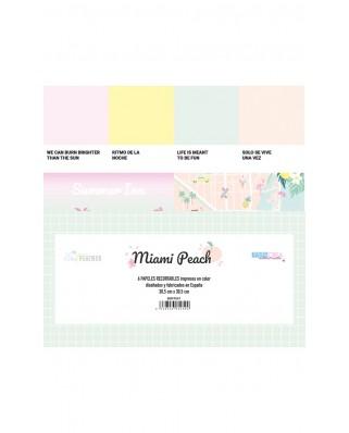 Recortables Miami Peach - The Mint Feather