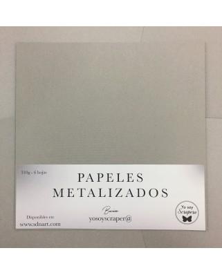 Papel Metalizado Gris