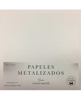 Papel Metalizado Blanco