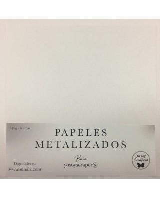 Papel Metalizado Blanco