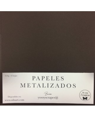 Papel Metalizado Marrón