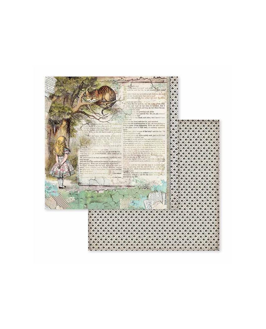 """Bloc papel de scrap 10 hojas 30.5x30.5 (12""""x12"""") impresas por las 2 caras Alice"""